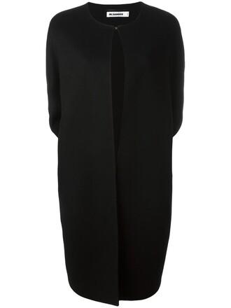 coat oversized open women black