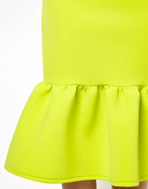 ASOS | ASOS Premium Pencil Skirt in Scuba with Peplum Hem at ASOS