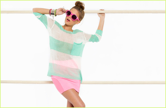 sweater nastygal nastygal.com shopnastygal.com striped knit sweater mint striped sweater
