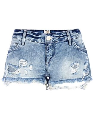 ASOS Fashion Finder   Light wash ripped denim shorts