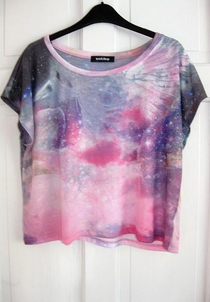 galaxy print t-shirt