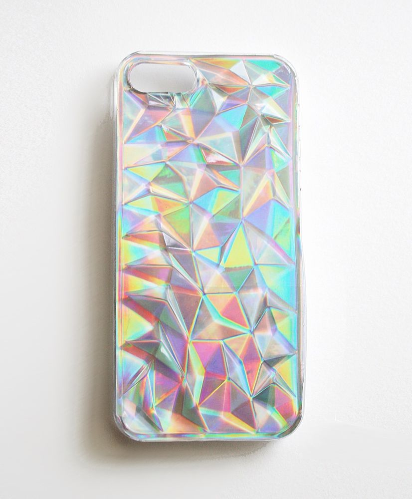 iPhone 5 5S Holographic Hologram Iridescent 3D Diamond Triangle Case Cover New | eBay