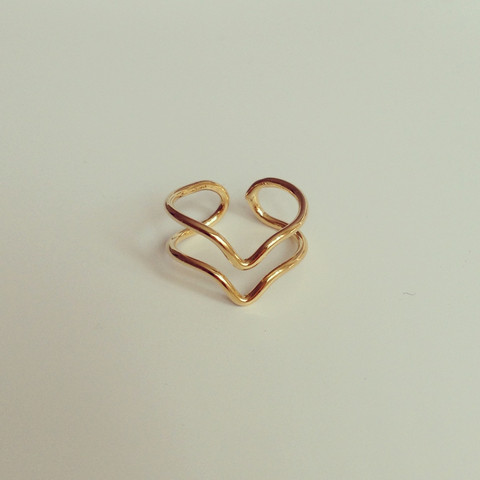 louun — Wire Knuckle Gold Ring