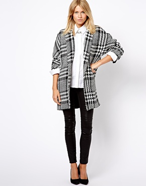 Mango | Mango Oversized Boyfriend Checked Coat at ASOS
