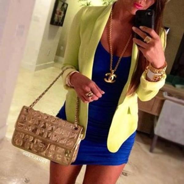 dress jacket bag jewels