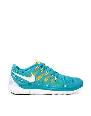 Nike | Nike Free 5.0 '14 Blue Trainers at ASOS
