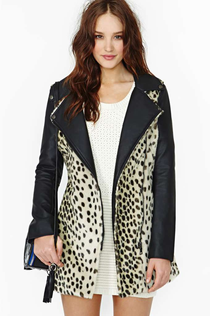 Wild Thing Faux Fur Coat in  What's New at Nasty Gal