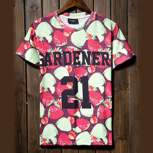Aliexpress.com : Buy Free shipping 2014 summer new men t shirt printing tops & tees printed harajuku punk retro strawberry 21 boys brand o neck from Reliable top water fishing lure suppliers on CHOCO-MEN