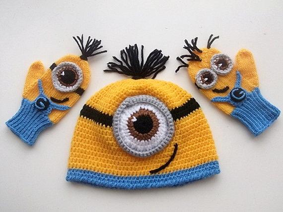 Despicable Me Minion setMinion Hat and Minion by myknittingworld