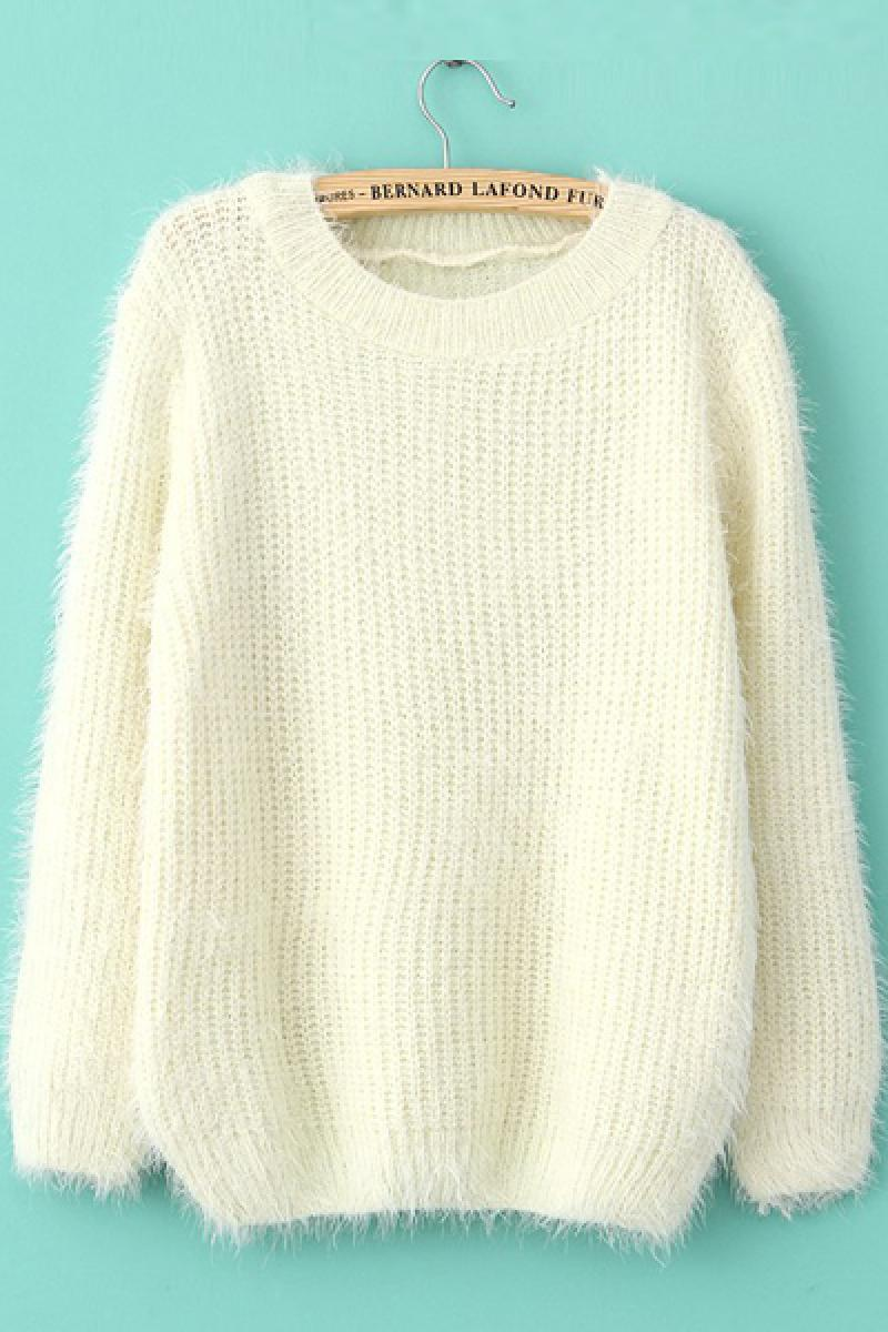 New Ladies Simple Pullover Mohair Sweater,Cheap in Wendybox.com