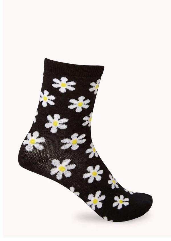 jewels socks daisy print underwear