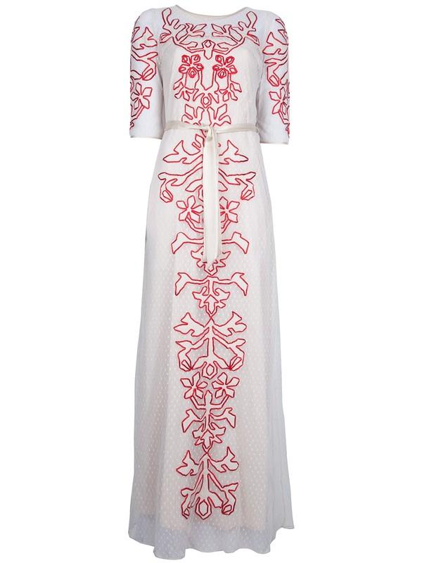 dress alice by temperley long dress long 'florida' dress