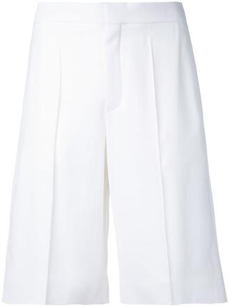 shorts women white