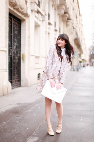 the cherry blossom girl shirt jacket bag skirt shoes