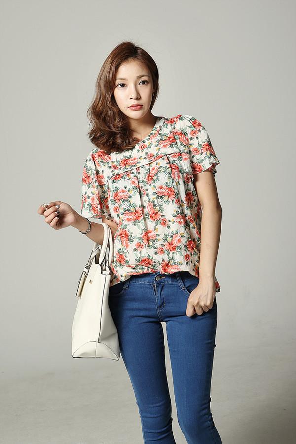blouse flowers flower blouse print flower blouse