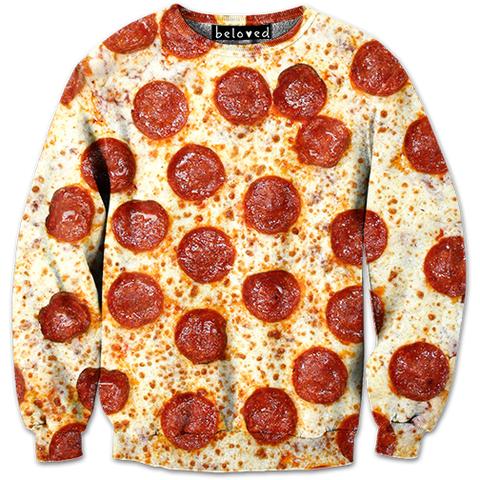 Pepperoni Pizza Sweatshirt | Belovedshirts