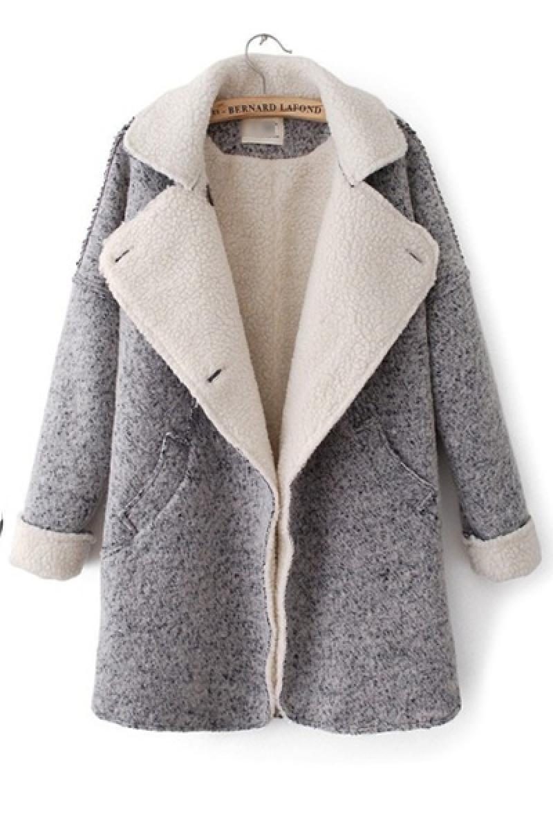 Autumn & Winter New Section Lapel Woolen Overcoat,Cheap in Wendybox.com