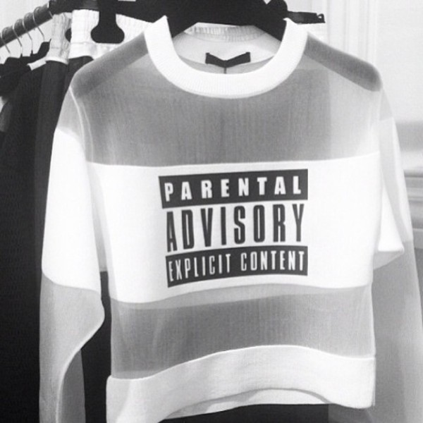sweater clear see through parental advisory explicit content