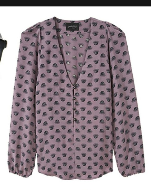 shirt chemise prune motif winter outfits