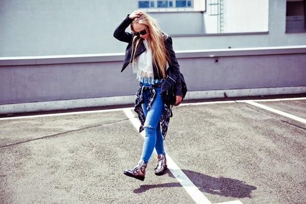 sylvia gaczorek jacket shoes shirt pants