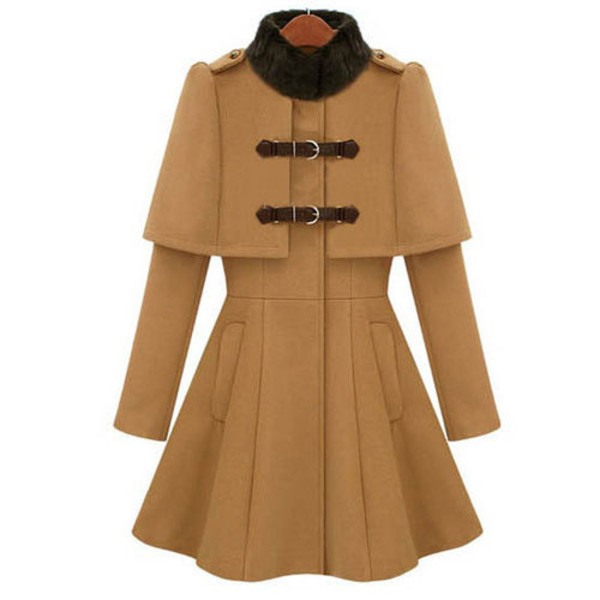 coat elegant solid color collar