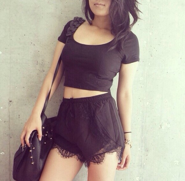 shorts black short