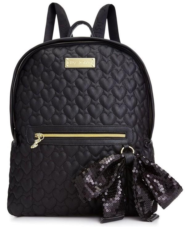 bag quilted love backpack betsey johnson quilted bag heart galentines day