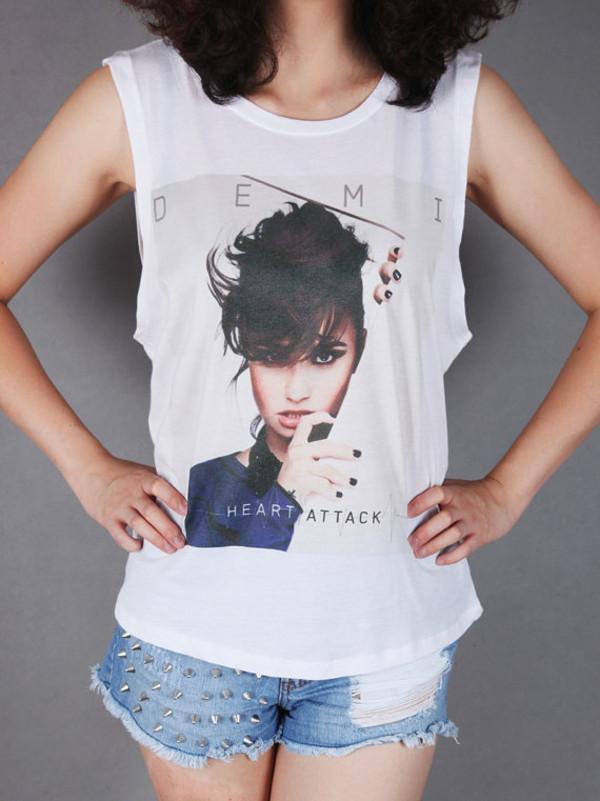 shirt demi lovato tumblr hipster demi heart attack