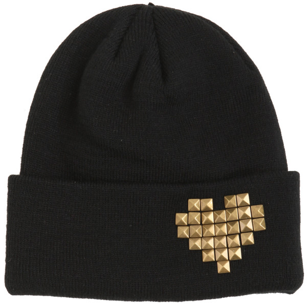 Heart Studded Beanie | Hot Topic - Polyvore