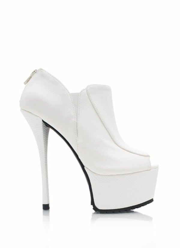 shoes all white everything booties platform high heels heels