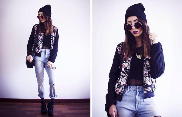jacket floral jacket
