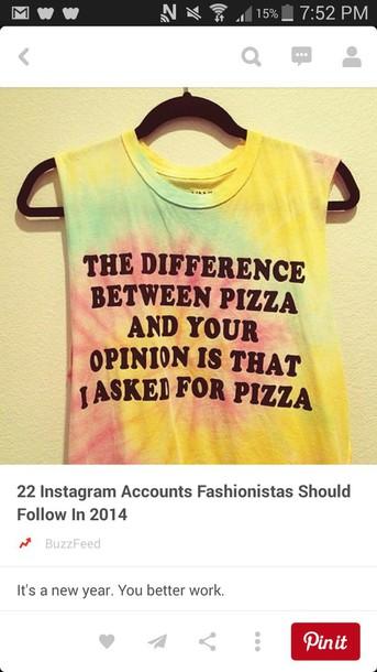 shirt pizza shirt sarcasm