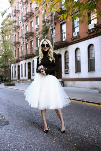atlantic pacific blogger sunglasses jewels tulle skirt