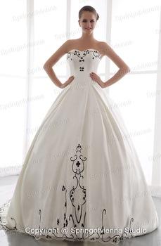 talla 7 comprar nuevo salida de fábrica Vestidos de novia blanco con negro – Las mejores modelos de ...