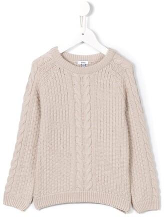 sweater toddler braid nude