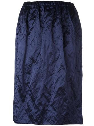 skirt metallic women cotton blue