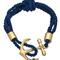Blu bijoux navy nautical wrap bracelet - max & chloe