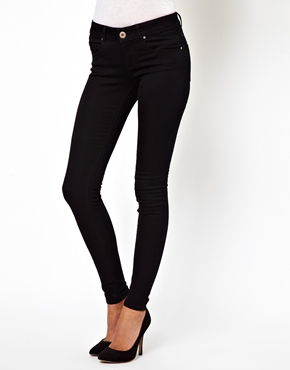 ASOS | ASOS Low Rise Ultra Skinny Jeans in Clean Black at ASOS