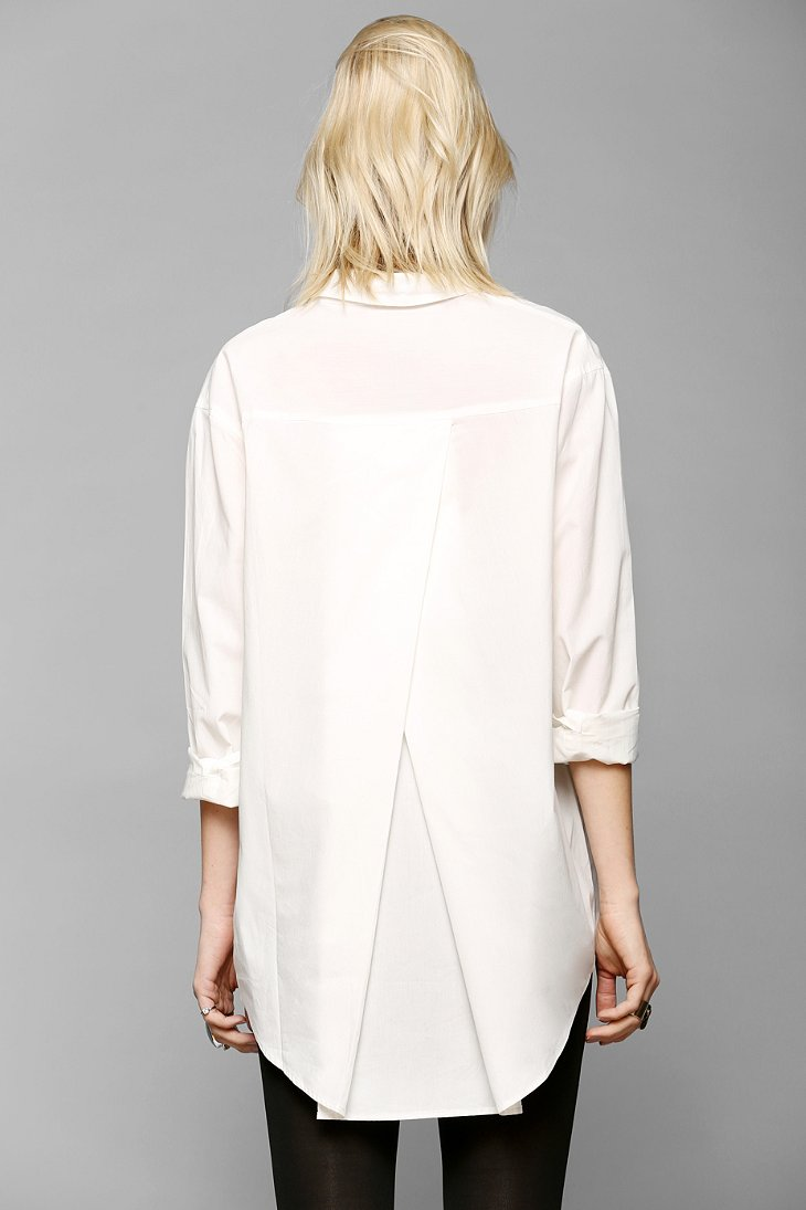 Silence   Noise Tucked & Shirred Button-Down Shirt - Urban Outfitters