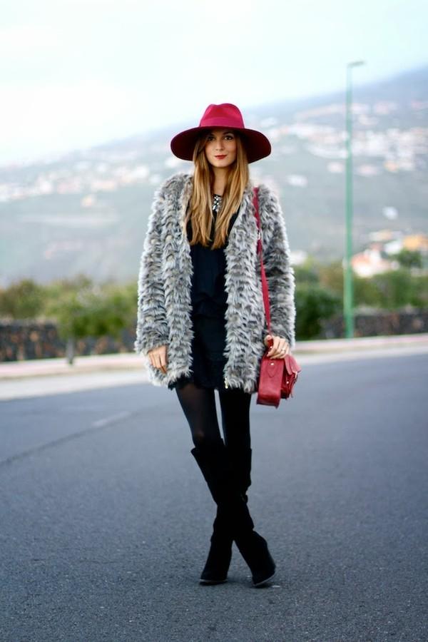 marilyn's closet blog coat hat shoes bag jewels skirt