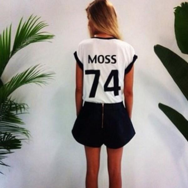 t-shirt kate moss white swag