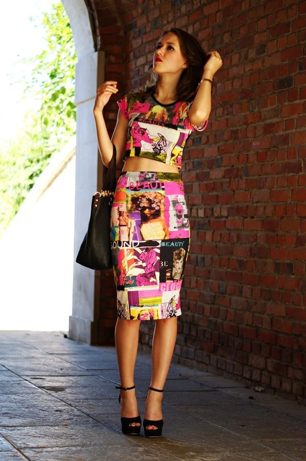 madame poupee t-shirt skirt shoes bag