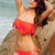 High Quality Sexy Tassels Embellished Bikini - Orange & Rose on Luulla