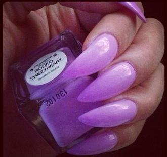 nail polish lilac stiletto nails pastel color nails fashion my daily style