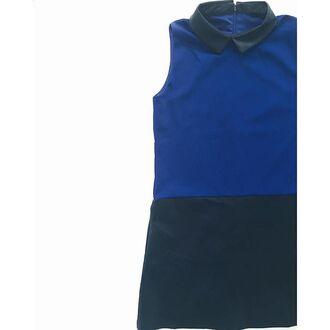 dress the shopping bag cobalt blue cobalt leather leather dress fall outfits outfit blue dress cobalt dress black faux leather dress