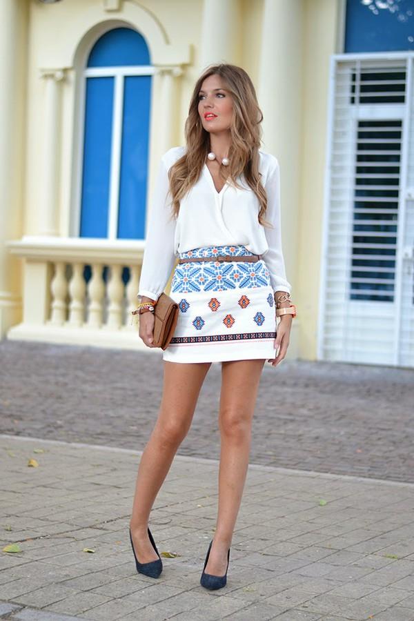 mi aventura con la moda skirt blouse shoes t-shirt bag