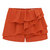 Orange Cascading Ruffle Zipper Chiffon Shorts - Sheinside.com