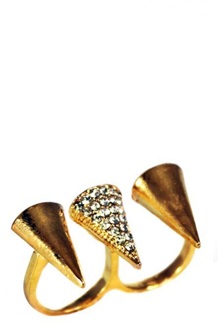 "YAYALOVE | Doppelring ""Triton"" | Vintage Pop Art Jewelry Accessories"