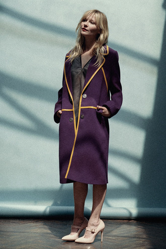 coat fall outfits kirsten dunst shoes dress