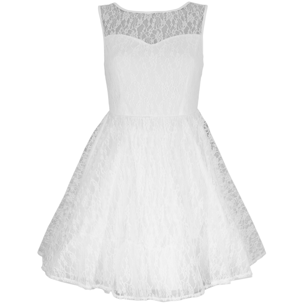 White Lace Party Dress   Style Icon`s Closet